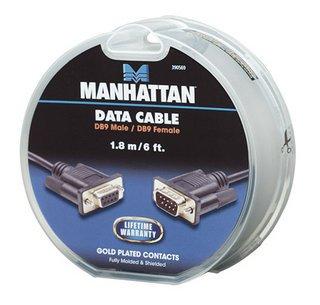 Manhattan καλώδιο σειριακό DB9 αρσενικό σε θηλυκό cake box 1.8m
