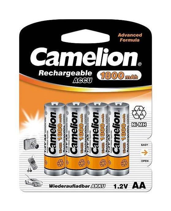 Camelion μπαταρίες NiMH επαναφορτιζόμενες AA 1.2V 1800mAh 4τμχ