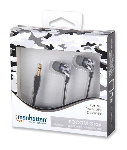 Manhattan ακουστικά in-ear με απομόνωση θορύβου γκρι