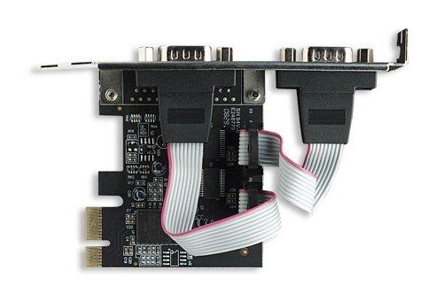 Manhattan κάρτα PCI Express σειριακής θύρας 2-port
