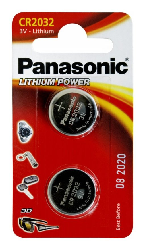 Panasonic CR2032 μπαταρίες λιθίου 3V 2τμχ