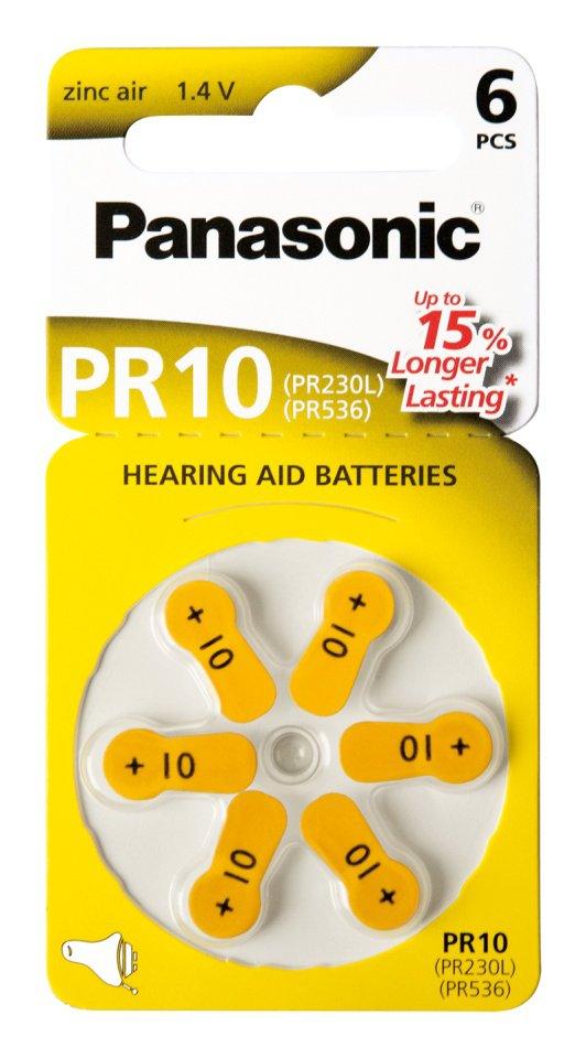 Panasonic PR10 μπαταρίες Zinc Air 1,4V 6τμχ