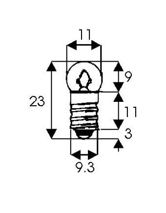 Λαμπάκι 1.5V 300mA βιδωτό E10