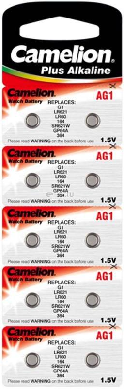 Camelion μπαταρίες αλκαλικές 1.5V AG1-LR60-G1-164-364 10τμχ