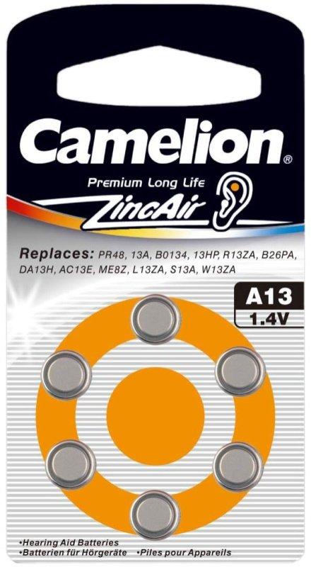 Camelion μπαταρίες Zinc Air A13 1.4V 6τμχ