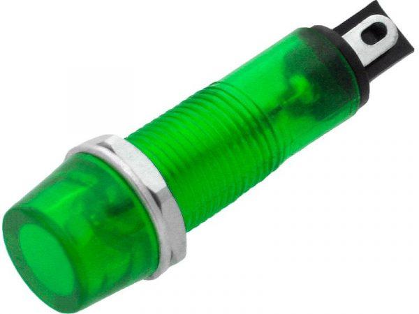 Λαμπάκι 9mm 230V Πράσινο