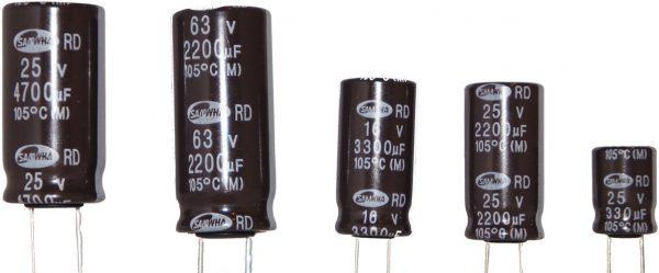 4.7μF 350-400V 85-105°C 10x16 ηλεκτρολυτικός κάθετος