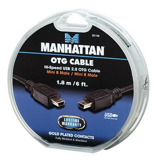 Manhattan καλώδιο USB OTG Mini-B σε Mini-B cake box 1.8m
