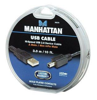 Manhattan καλώδιο USB Mini-A σε A cake box 3m